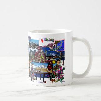 Japanisches Archipel-Collage Japans Kaffeetasse