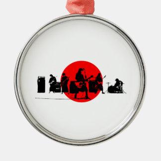 Japanisches Band Silbernes Ornament