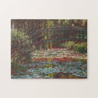 Japanisches Brücken-und Wasser-Lilien ~ Claude Puzzle