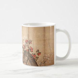 Japanisches byobu gemalter Schirm Kaffeetasse