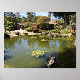 Japanisches Garten-Plakat San Mateos Poster
