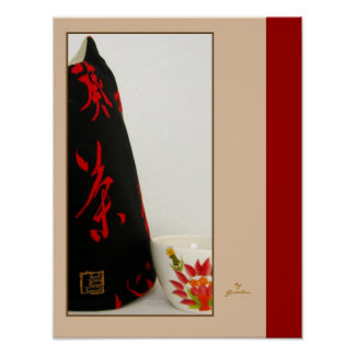Japanisches Kanji-zeitgenössische Art-Tee-Cozy Pla Plakate