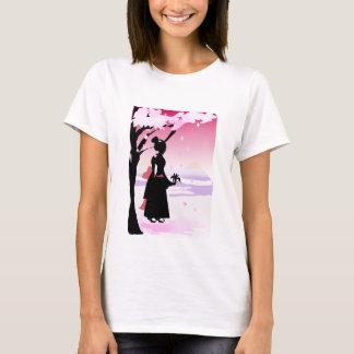 Japanisches Kimono-Mädchen T-Shirt