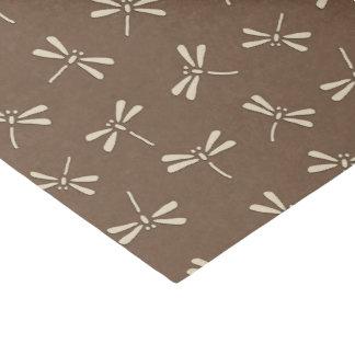 Japanisches Libellen-Muster, Creme und Taupe TAN Seidenpapier