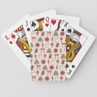 Japanisches Muster Spielkarten
