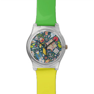 Japanisches nahtloses Muster Armbanduhr