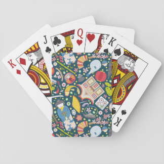 Japanisches nahtloses Muster Spielkarten