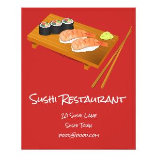 Japanisches Restaurant der Sushi Nahrungsmittel Flyer