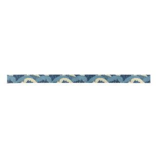 Japanisches Seewellenmuster Satinband