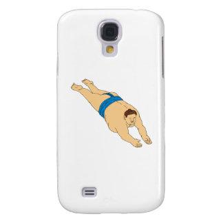 Japanisches Sumo-Ringkämpfer-Tauchzeichnen Galaxy S4 Hülle