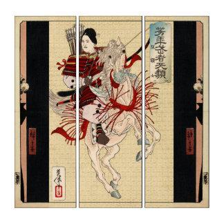 Japanisches weibliches Hosewoman Triptychon