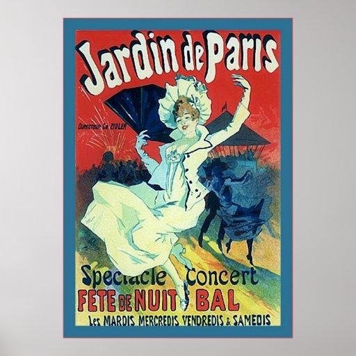 Jardin De Paris ~ Vintage französische Werbung Plakate