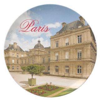 Jardin DU Luxemburg in Paris Melaminteller