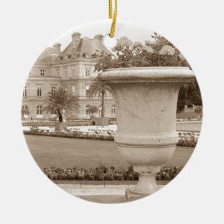 Jardin DU Luxemburg, Vintages Paris Keramik Ornament