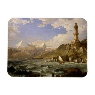 Jaspis Francis Cropsey - die Küste von Genua Magnet