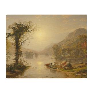 Jaspis Francis Cropsey - Herbst auf Greenwood See Holzdruck