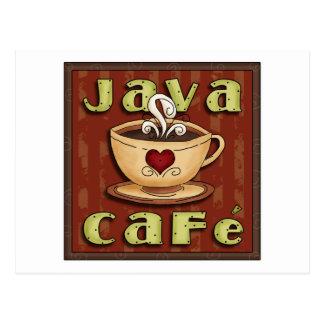 Java-Café Postkarte