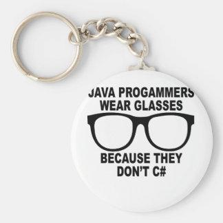 Java-Programmierer tun nicht C# T-Shirts.png Schlüsselanhänger