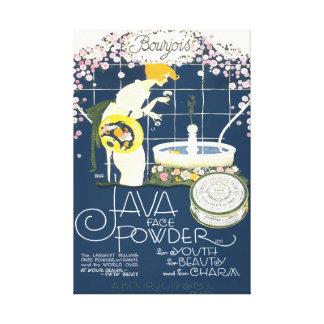 Java stellen Pulver-Vintage Leinwanddruck