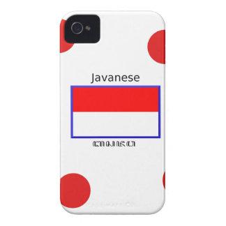 Javanese-Sprache und indonesischer Flaggen-Entwurf Case-Mate iPhone 4 Hülle