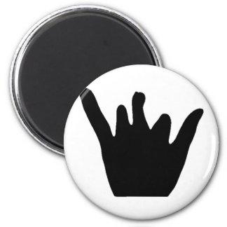 Jayden Hand (Schwarzes) Runder Magnet 5,7 Cm