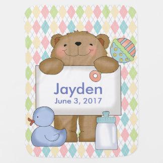 Jaydens gute Nachrichten tragen personalisierte Puckdecke