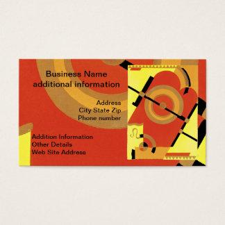 Jazz-Alters-Kunst-Deko abstrakt Visitenkarte