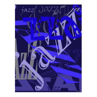 Jazz-Blau auf Blau Postkarte