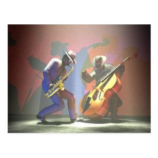 Jazz-Duell Postkarte