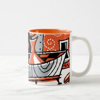 Jazz-Grill-Tasse Zweifarbige Tasse