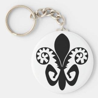 Jazz-Lilie (Schwarzes) Schlüsselanhänger