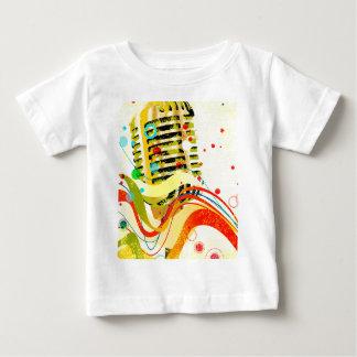 Jazz-Mikrofon-Plakat Baby T-shirt