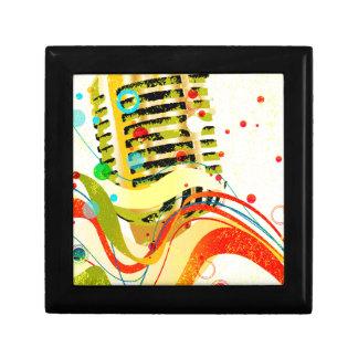 Jazz-Mikrofon-Plakat Geschenkbox