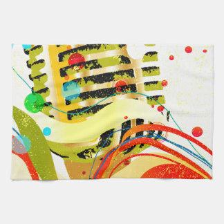 Jazz-Mikrofon-Plakat Handtuch