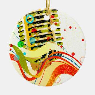 Jazz-Mikrofon-Plakat Keramik Ornament
