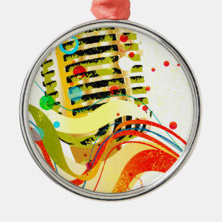 Jazz-Mikrofon-Plakat Silbernes Ornament