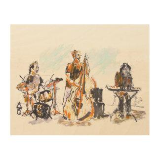 Jazz music Trio Holzwanddeko