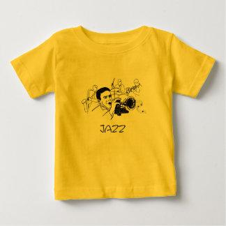 JAZZ-Musiker mit Trompete und musikalischen Baby T-shirt