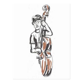 Jazz-Musiker Postkarte