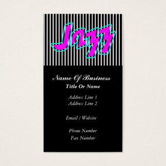 Jazz-Musikindustrie-Karte Visitenkarte