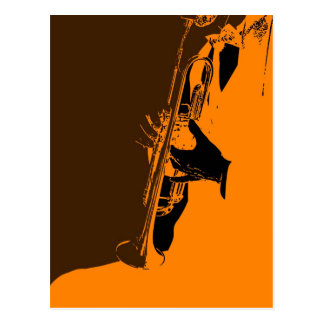 Jazz-Orange Postkarte