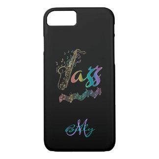 Jazz-personalisierter Regenbogensax-Musik iPhone 7 iPhone 8/7 Hülle