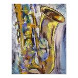 Jazz-Saxophon-Einladung 10,8 X 14 Cm Einladungskarte