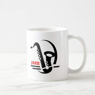 Jazz-Saxophon Kaffeetasse