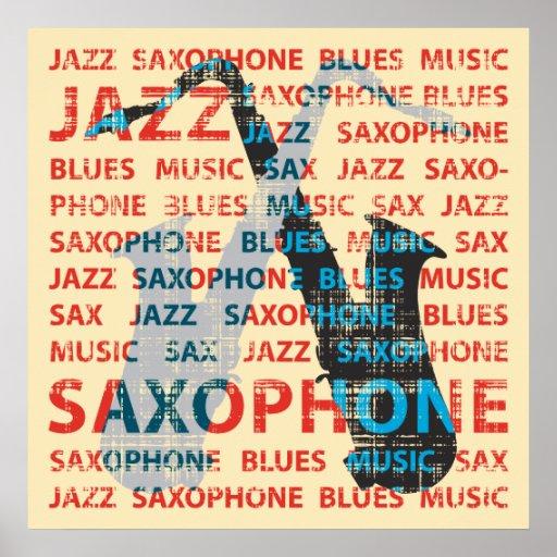 Jazz-Saxophon Posterdruck