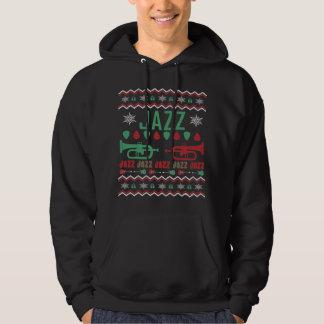 Jazz-Spieler-hässliche Weihnachtsstrickjacke Hoodie