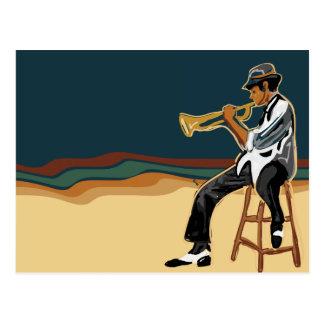Jazz-Spieler Postkarte