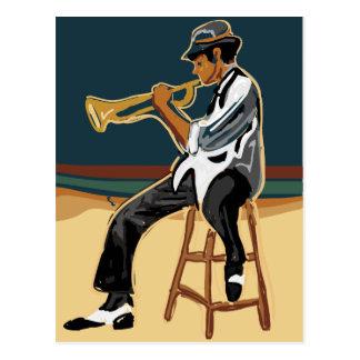 Jazz-Spieler-Postkarte Postkarte