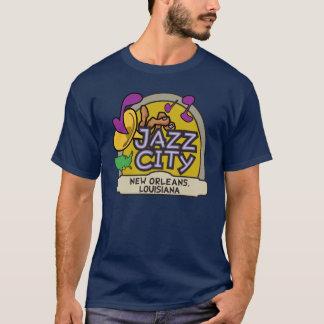 Jazz-Stadt bemannt T-Stück T-Shirt