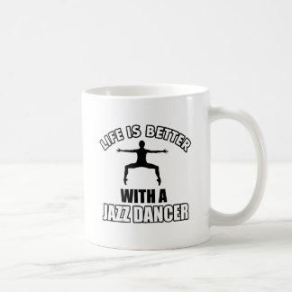 Jazz-Tanzenentwürfe Kaffeetasse